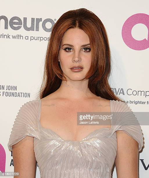 Lana Del Rey attends the 24th annual Elton John AIDS Foundation's Oscar viewing party on February 28 2016 in West Hollywood California