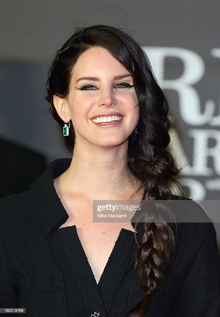 Lana Del Rey attends the Brit Awards at 02 Arena on February 20, 2013 in London, England.