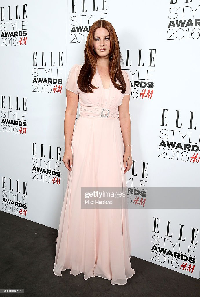 Lana Del Rey attends The Elle Style Awards 2016 on February 23, 2016 in London, England.