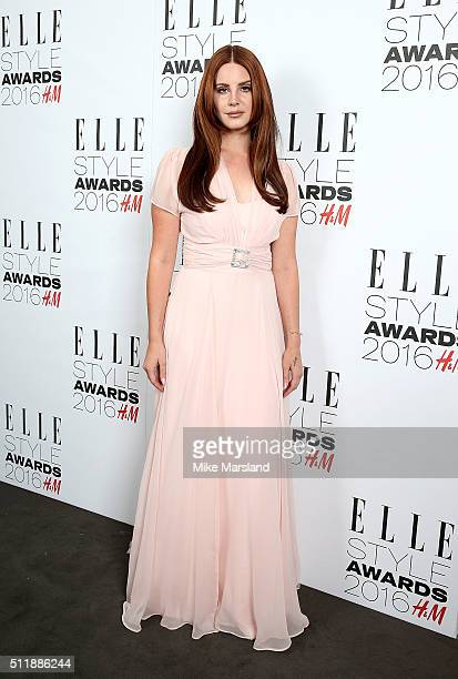 Lana Del Rey attends The Elle Style Awards 2016 on February 23 2016 in London England