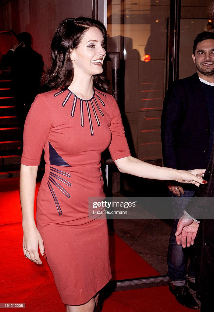 Lana Del Rey attends the 'Musik Hilft' Charity Dinner at the Grill Royal on March 20, 2013 in Berlin, Germany.