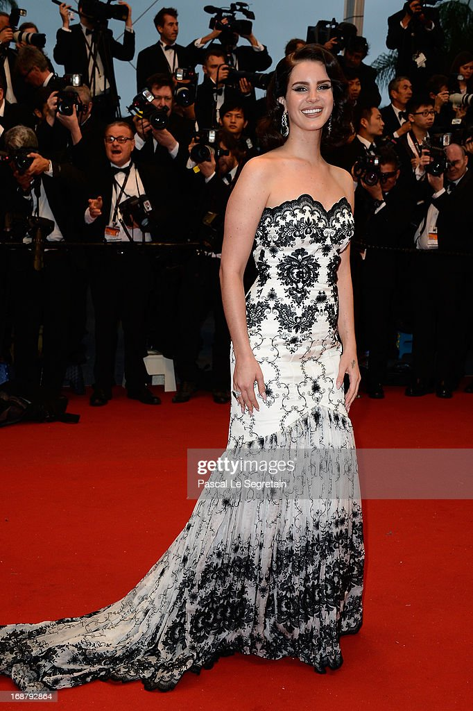 Lana Del Rey attends the Opening Ceremony and 'The Great Gatsby' Premiere during the 66th Annual Cannes Film Festival at the Theatre Lumiere on May...