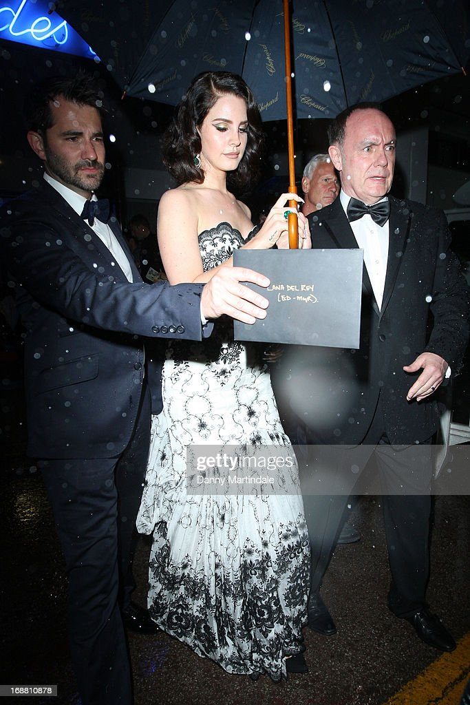 Lana Del Rey depart the Opening Ceremony and premiere of 'The Great Gatsby' during the 66th Annual Cannes Film Festival at Palais des Festivals on May 15, 2013 in Cannes, France.