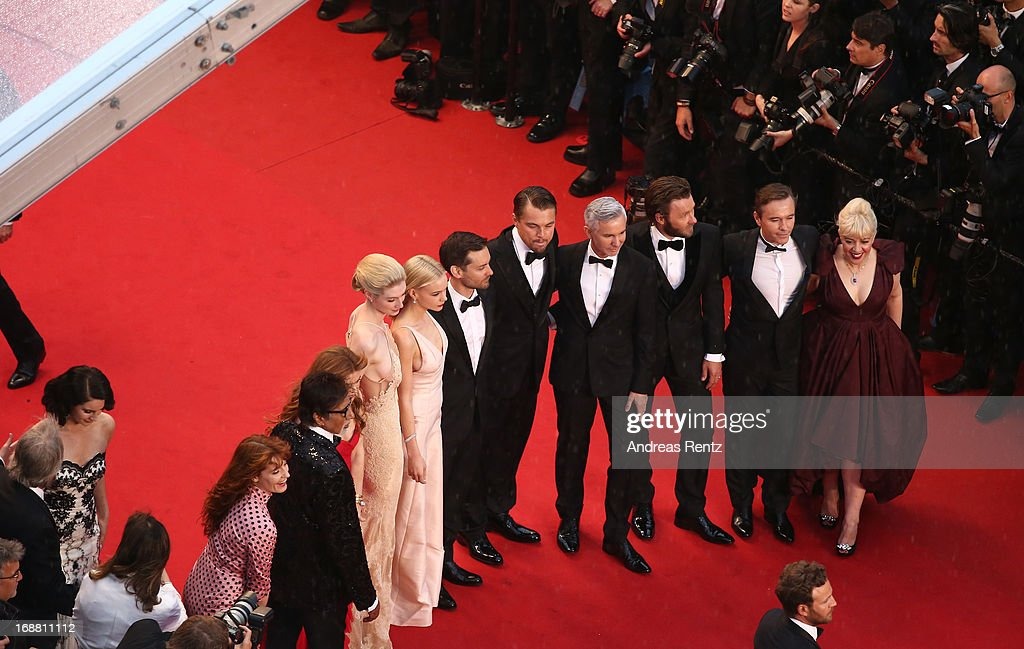 Lana Del Rey, Florence Welch, Amitabh Bachchan, Isla Fisher, Elizabeth Debicki, Carey Mulligan, Tobey Maguire, Leonardo DiCaprio, Baz Luhrmann, Joel Edgerton, Craig Pearce and Catherine Martin attend the Opening Ceremony and 'The Great Gatsby' Premiere during the 66th Annual Cannes Film Festival at the Theatre Lumiere on May 15, 2013 in Cannes, France.