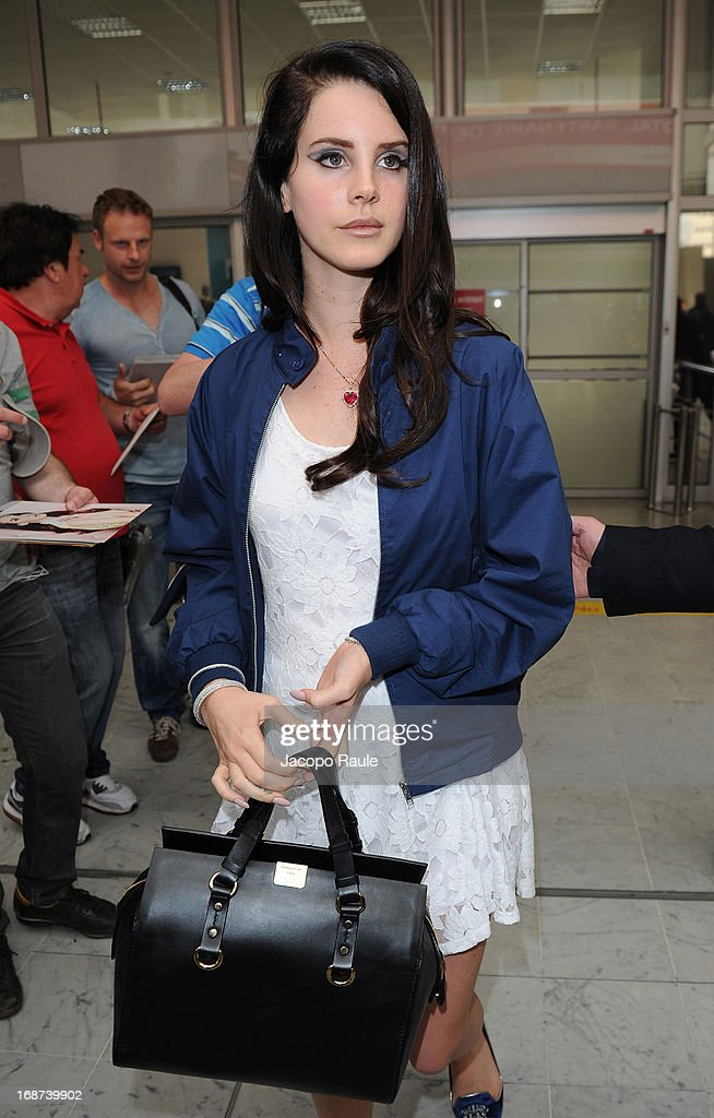 <a gi-track='captionPersonalityLinkClicked' href=/galleries/search?phrase=Lana+Del+Rey&family=editorial&specificpeople=8565478 ng-click='$event.stopPropagation()'>Lana Del Rey</a> is seen arriving at Nice airport on May 14, 2013 in Nice, France.