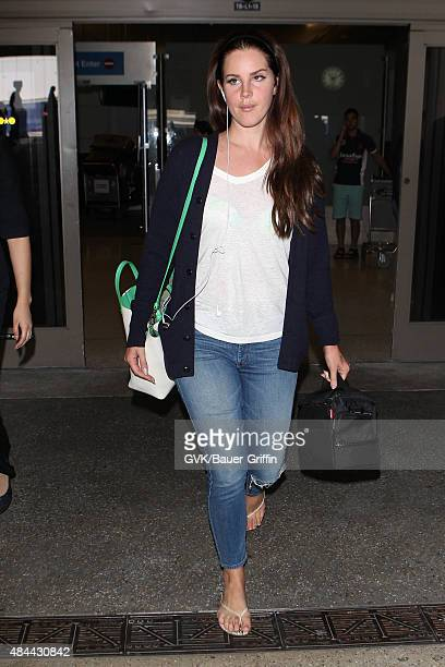 Lana Del Rey is seen at LAX on August 18 2015 in Los Angeles California