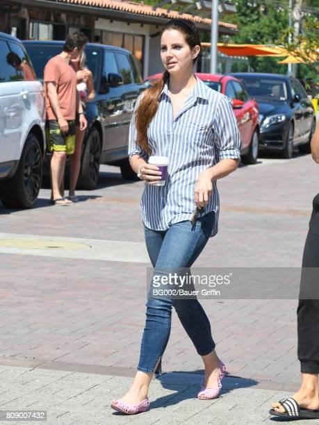 Lana Del Rey is seen on July 04 2017 in Los Angeles California