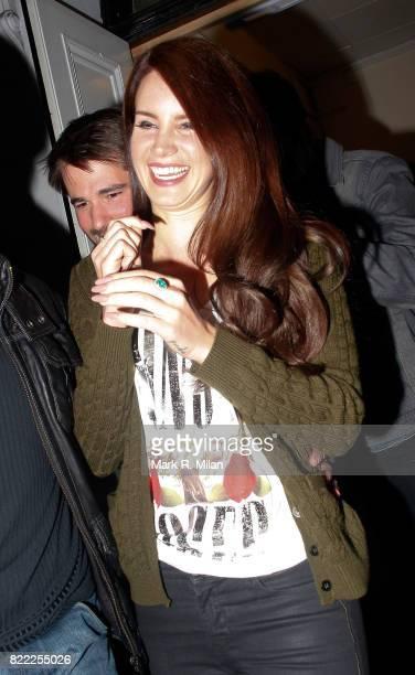 Lana Del Rey leaves Camden Jazz Cafe on April 10 2012 in London England