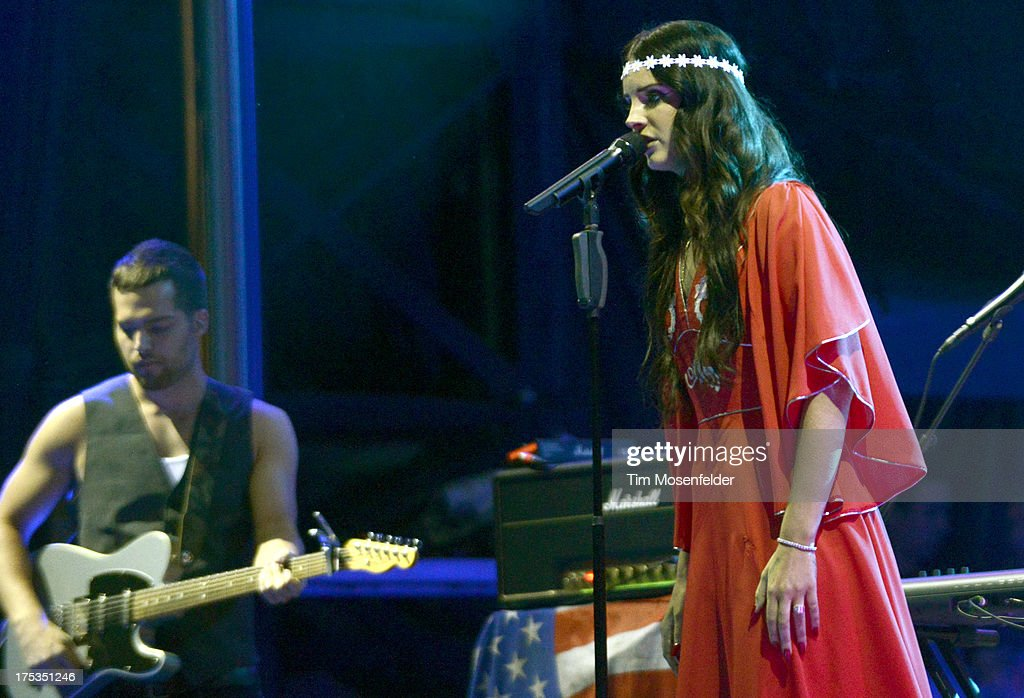 Lana Del Rey performs as part of Lollapalooza 2013 at Grant Park on August 2, 2013 in Chicago, Illinois.