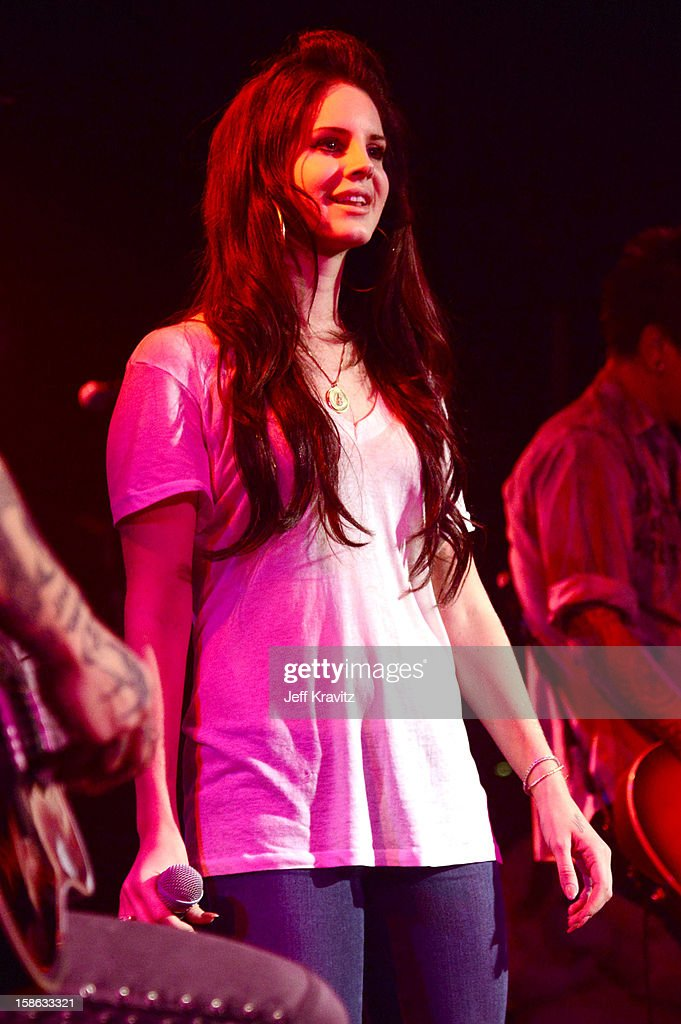 Lana Del Rey performs at Camp Freddy Holiday Residency at The Roxy Theatre on December 21, 2012 in West Hollywood, California.