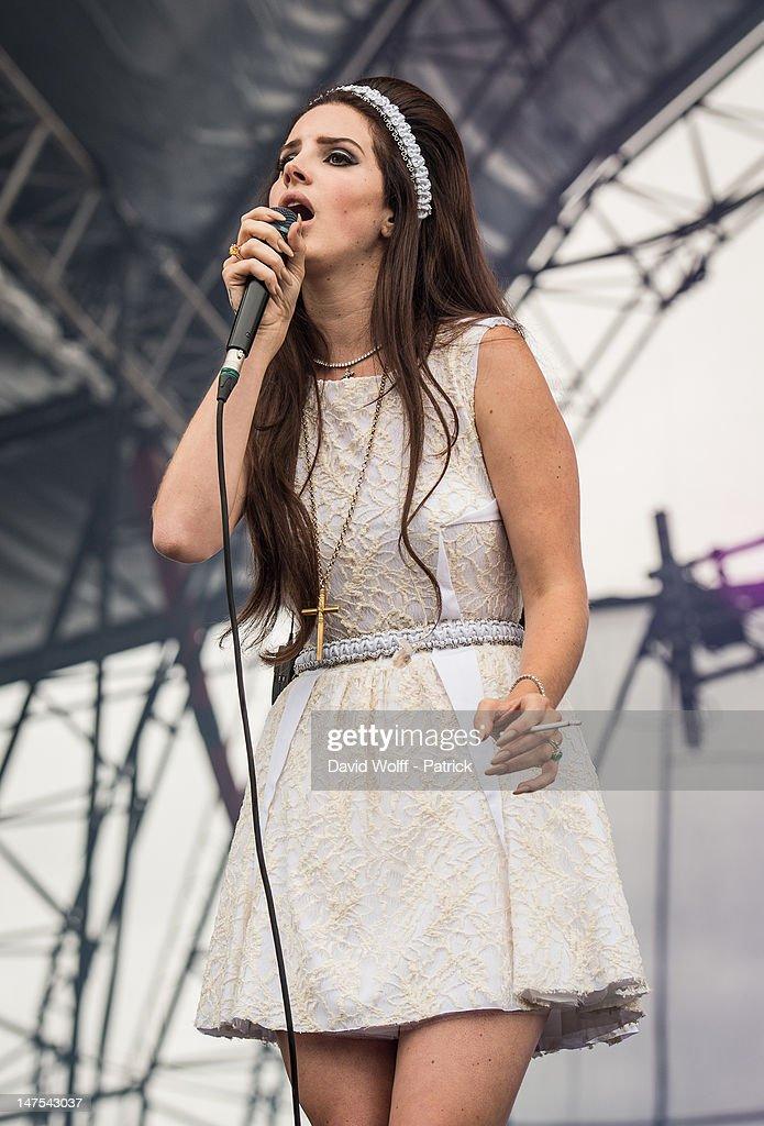 Lana del Rey performs at Eurockeennes Music Festival on July 1, 2012 in Belfort, France.