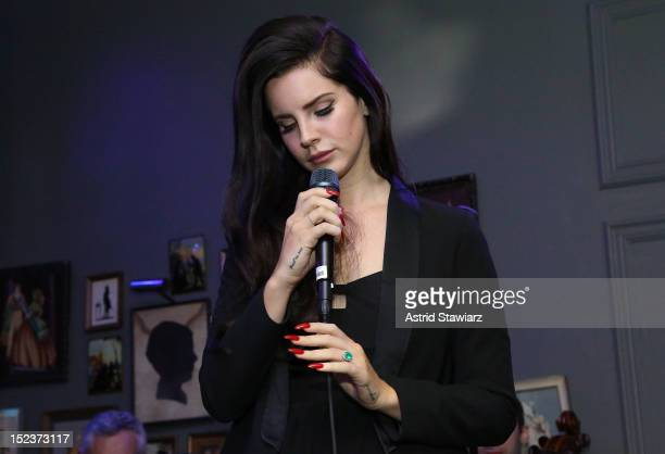 Lana Del Rey performs at HM's private concert at The Wooly on September 19 2012 in New York City