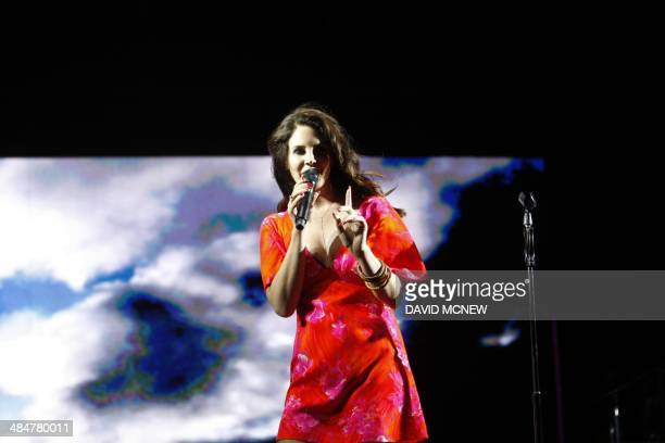 Lana Del Rey performs at the Coachella Valley Music Arts Festival at the Empire Polo Club in Indio California April 13 2014 The annual music festival...