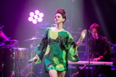 Lana Del Rey performs during La Fete De La Musique at L'Olympia at L'Olympia on June 21 2014 in Paris France