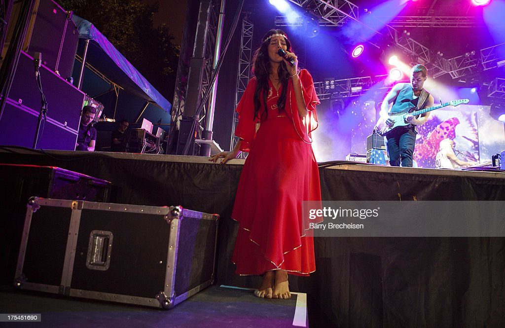 Lana Del Rey performs during Lollapalooza 2013 at Grant Park on August 2, 2013 in Chicago, Illinois.