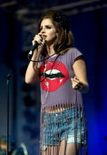 Lana Del Rey performs in the Big Top on day 2 of The Isle of Wight Festival at Seaclose Park on June 22 2012 in Newport Isle of Wight