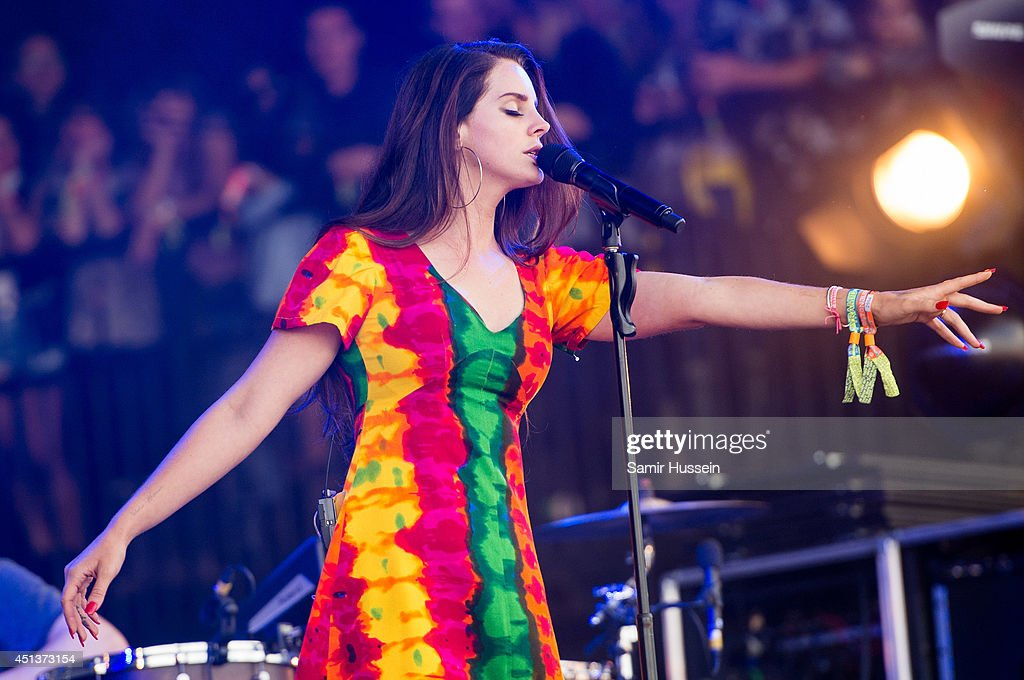 Lana Del Rey performs on Day 2 of the Glastonbury Festival at Worthy Farm on June 28 2014 in Glastonbury England