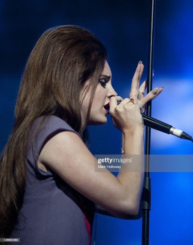 Lana Del Rey performs on stage at the Isle of Wight Festival at Seaclose Park on June 22, 2012 in Newport, United Kingdom.