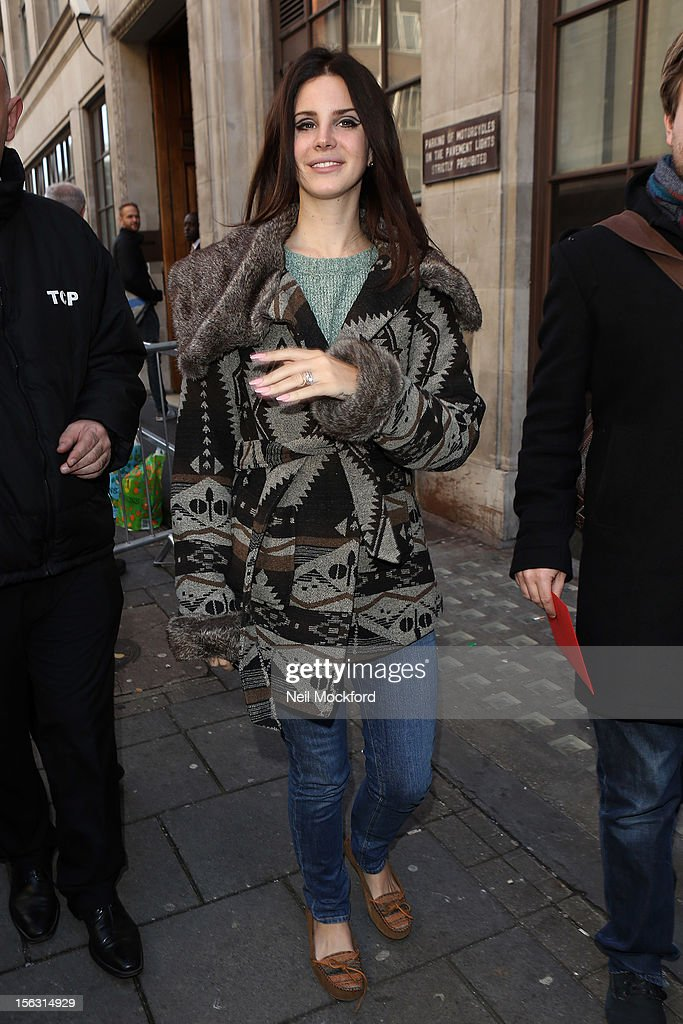 <a gi-track='captionPersonalityLinkClicked' href=/galleries/search?phrase=Lana+Del+Rey&family=editorial&specificpeople=8565478 ng-click='$event.stopPropagation()'>Lana Del Rey</a> seen at BBC Radio One on November 13, 2012 in London, England.