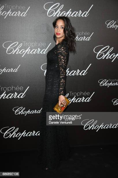 Lana El Sahely attends the Chopard Trophy photocall at Hotel Martinez on May 22 2017 in Cannes France