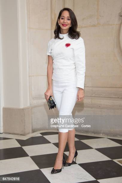 Lana El Sahely attends the Christian Dior show as part of the Paris Fashion Week Womenswear Fall/Winter 2017/2018 on March 3 2017 in Paris France