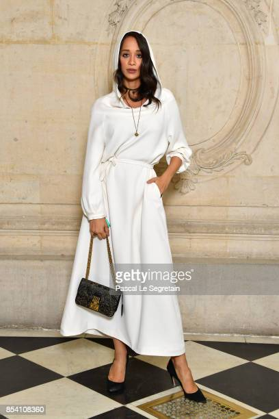 Lana El Sahely attends the Christian Dior show as part of the Paris Fashion Week Womenswear Spring/Summer 2018 on September 26 2017 in Paris France