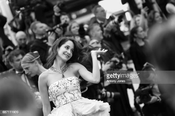 Lana El Sahely attends 'The Killing Of A Sacred Deer' premiere during the 70th annual Cannes Film Festival at on May 22 2017 in Cannes France
