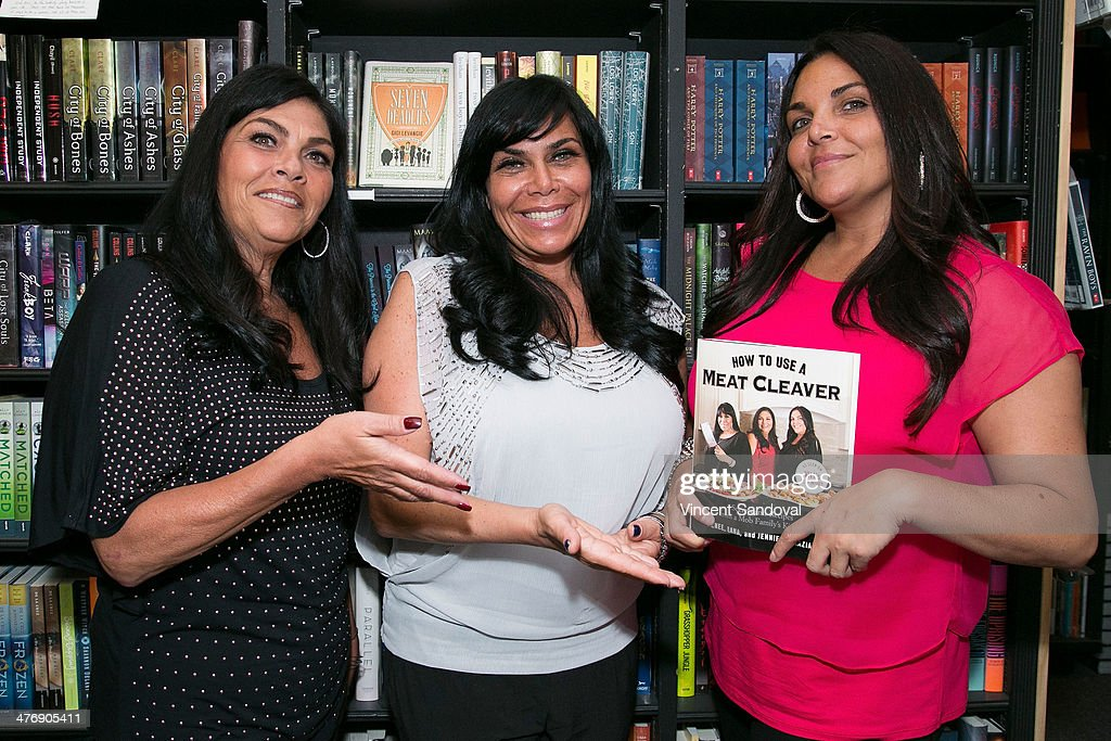 Lana Graziano Renee Graziano and Jennifer Graziano sign copies of their new book 'How To Use A Meat Cleaver' at Book Soup on March 5 2014 in West...