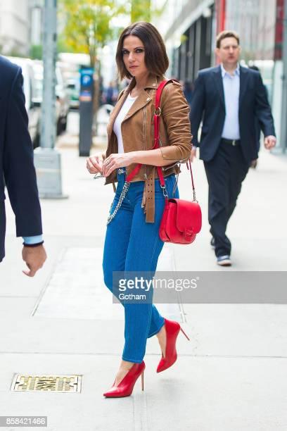 Lana Parrilla is seen in Midtown on October 6 2017 in New York City