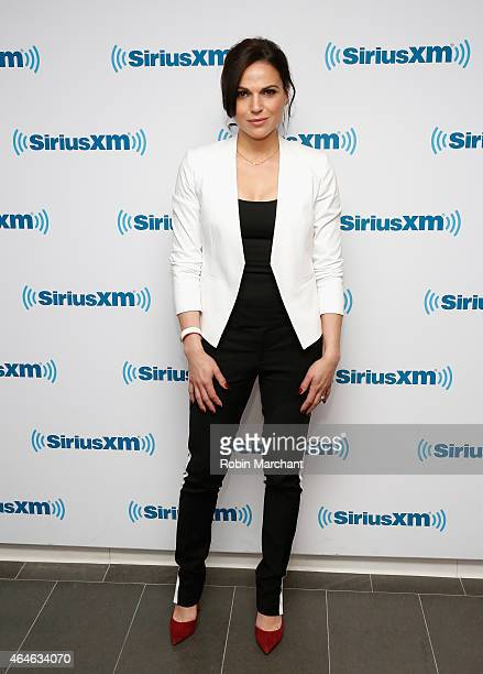 Lana Parrilla vists at SiriusXM Studios on February 27 2015 in New York City