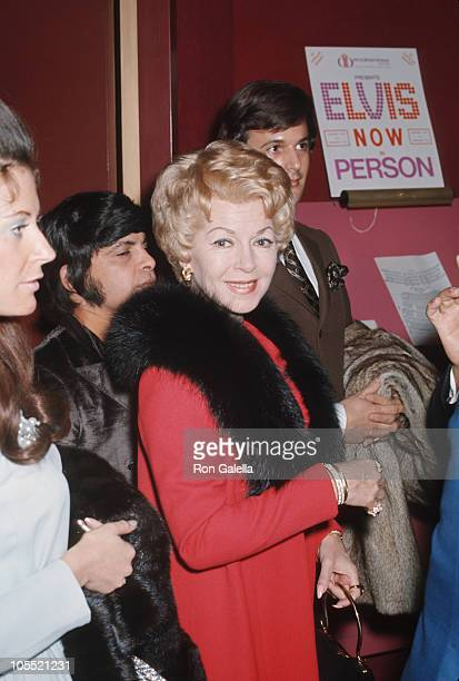 Lana Turner during Elvis Presley Opening Night at the International Hotel at International Hotel in Las Vegas Nevada United States