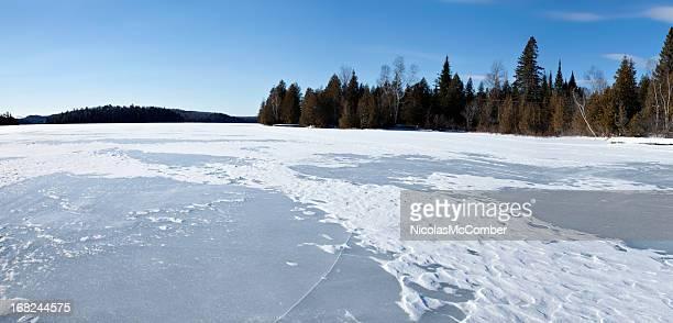 Lanaudiere Quebec frozen lake panorama