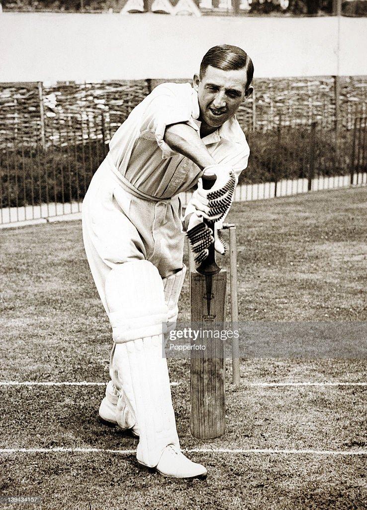 Lancashire and England batsman Eddie Paynter circa 1932