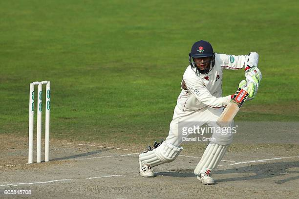 Lancashire batsman Haseeb Hameed during day four of the Specsavers County Championship Division One match between Lancashire and Middlesex at Old...
