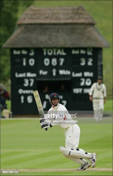 Lancashire batsman Mal Loye in action during their CG Trophy cricket match against Buckinghamshire at the Wormsley Park Cricket Ground on May 3rd 2005