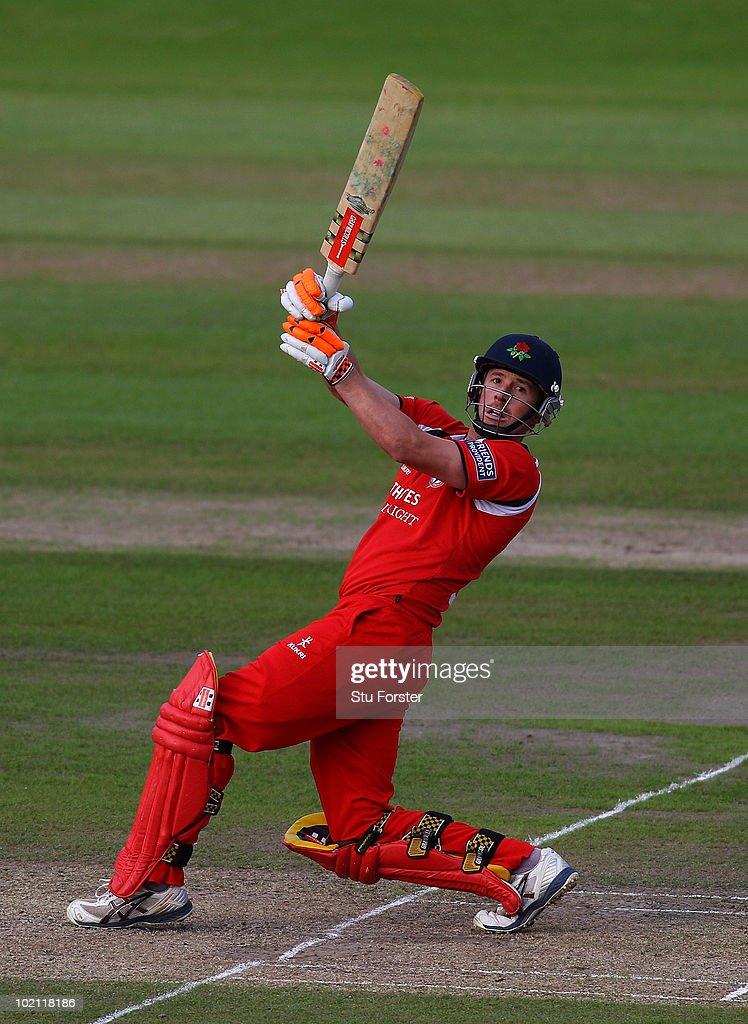 Lancashire batsman Paul Horton in action during the Friends Provident T20 match between Nottinghamshire and Lancashire at Trent Bridge on June 15, 2010 in Nottingham, England.