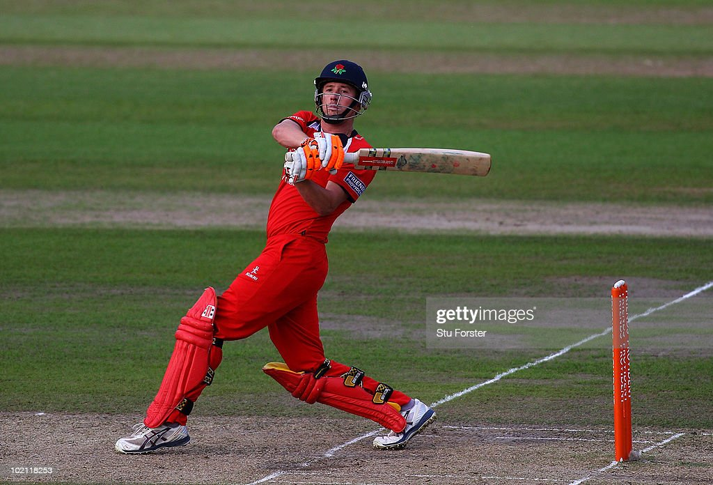 Lancashire batsman Paul Horton in action during the Friends Provident T20 match between Nottinghamshire and Lancashire at Trent Bridge on June 15, 2010 in Nottingham, England.