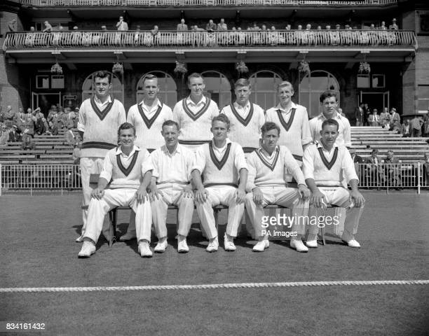 Lancashire cricket club Team Group left to right back row Geoff Pullar Ken Higgs Roy Collins Peter Marner Jack Dyson and Geoff Clayton Front row left...