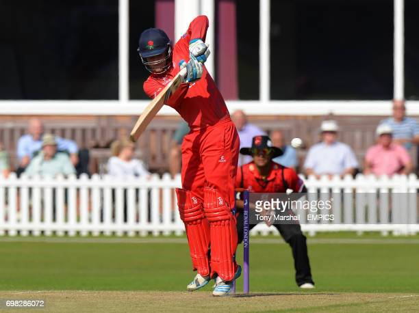 Lancashire's Liam Livingstone batting during the 2nd XI Trophy Final