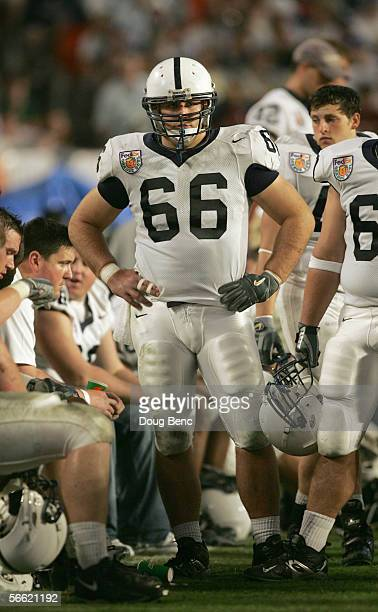 Lance Antolick of the Penn State Nittany Lions stands on the sidelines during the 72nd Fed Ex Orange Bowl against the Florida State Seminoles at...