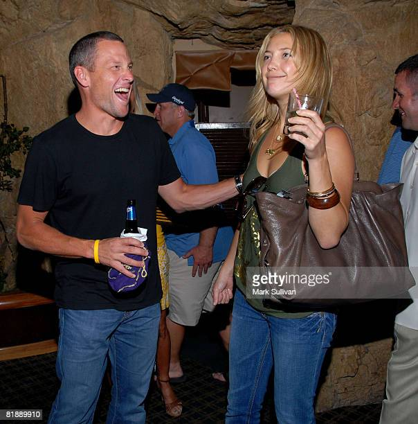 Lance Armstrong and actress Kate Hudson attend Backstage Creations at 2008 American Century Championship July 9 2008 at Harrahs Lake Tahoe in Lake...