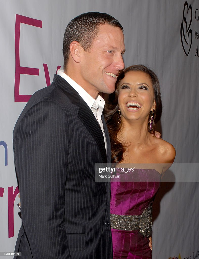 "Lance Armstrong and Eva Longoria during ""Save a Heart A Day"" with Larry King and Friends - Arrivals at Beverly Hilton Hotel in Beverly Hills, California, United States."