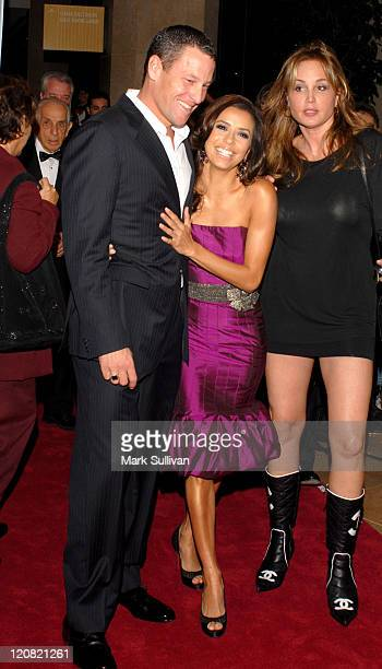 "Lance Armstrong and Eva Longoria during ""Save a Heart A Day"" with Larry King and Friends Arrivals at Beverly Hilton Hotel in Beverly Hills California..."