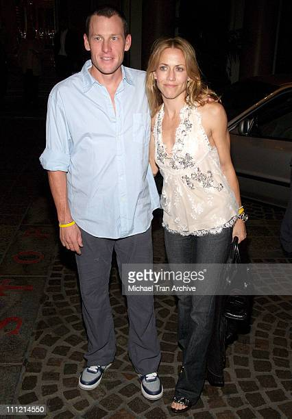 Lance Armstrong and Sheryl Crow during The Los Angeles Free Clinic's 29th Annual Dinner Gala Arrivals at Regent Beverly Wilshire in Beverly Hills...