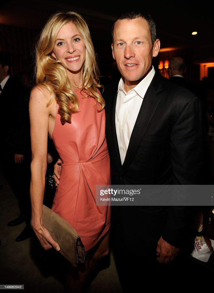 Lance Armstrong attend the 2012 Vanity Fair Oscar Party Hosted By Graydon Carter at Sunset Tower on February 26 2012 in West Hollywood California