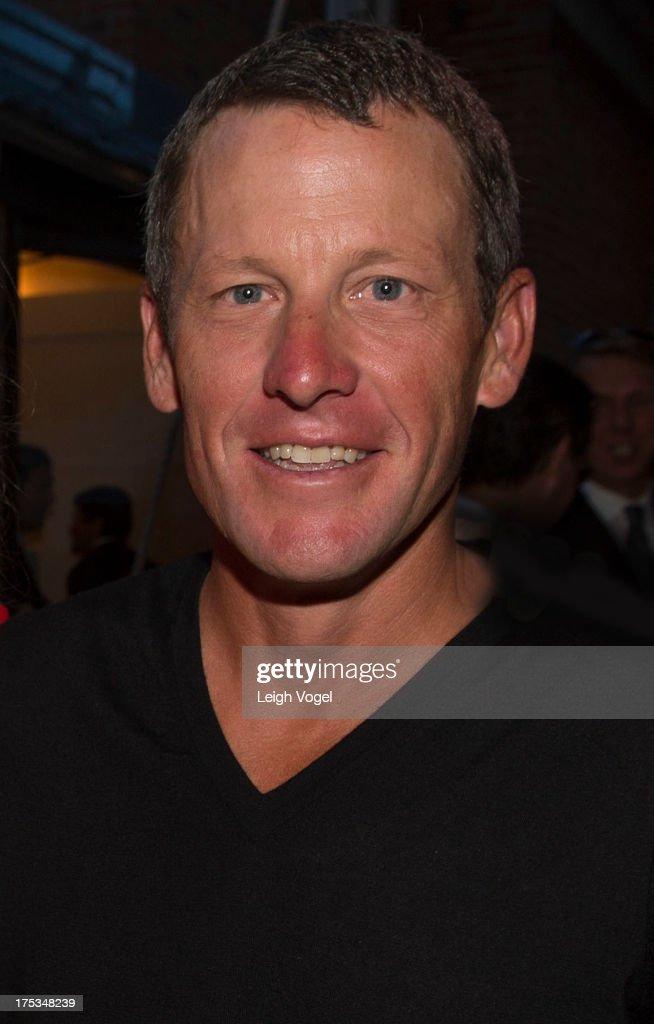 Lance Armstrong attends Aspen Art Museum 2013 ArtCrush Summer Benefit at Aspen Art Museum on August 2 2013 in Aspen Colorado