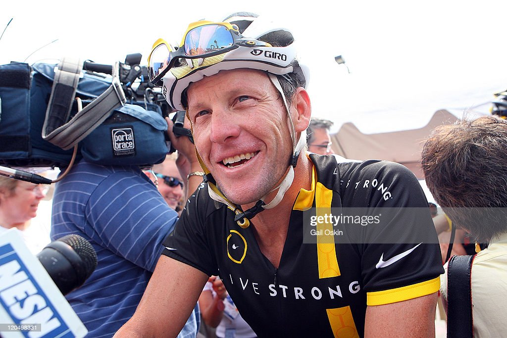 <a gi-track='captionPersonalityLinkClicked' href=/galleries/search?phrase=Lance+Armstrong&family=editorial&specificpeople=203072 ng-click='$event.stopPropagation()'>Lance Armstrong</a> attends the 2011 Pan-Massachusetts Challenge on August 6, 2011 in Bourne, Massachusetts.