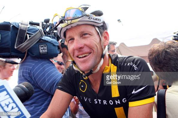 Lance Armstrong attends the 2011 PanMassachusetts Challenge on August 6 2011 in Bourne Massachusetts