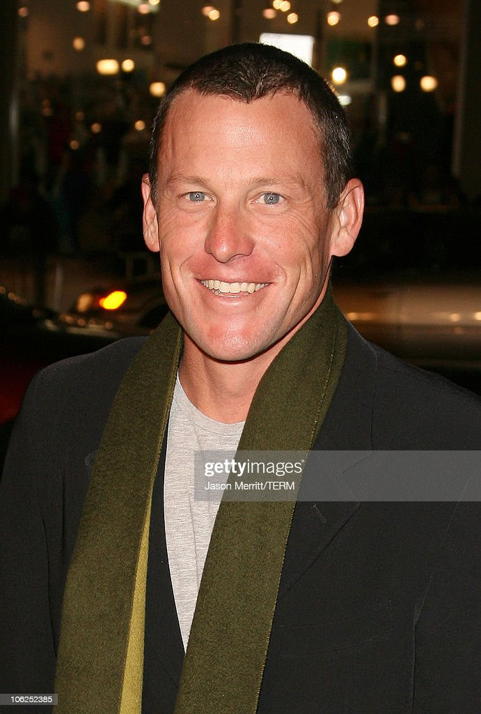 Lance Armstrong during 'We Are Marshall' Los Angeles Premiere Arrivals at Grauman's Chinese Theater in Hollywood California United States