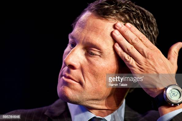 Lance Armstrong Founder and Chairman LIVESTRONG looks on during the second day of the Clinton Global Initiative annual meeting in New York on...